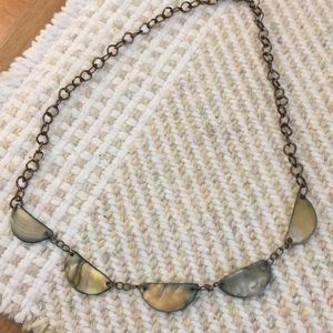 Green shell necklace